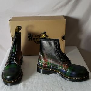 New Dr Martens 1460 Tartan Plaid Leather Boot